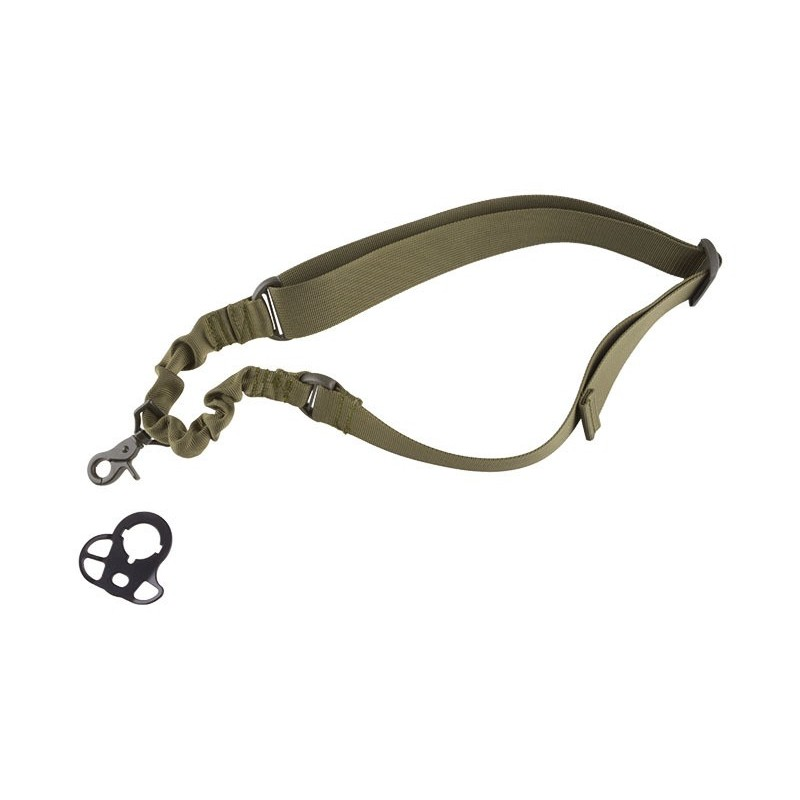One-point Bungee Tactical Sling Green Belt with Mount Black Eagle Corporation 2K20