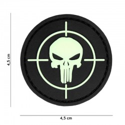 Patch 3D PVC Punisher sight glow in the dark 20026