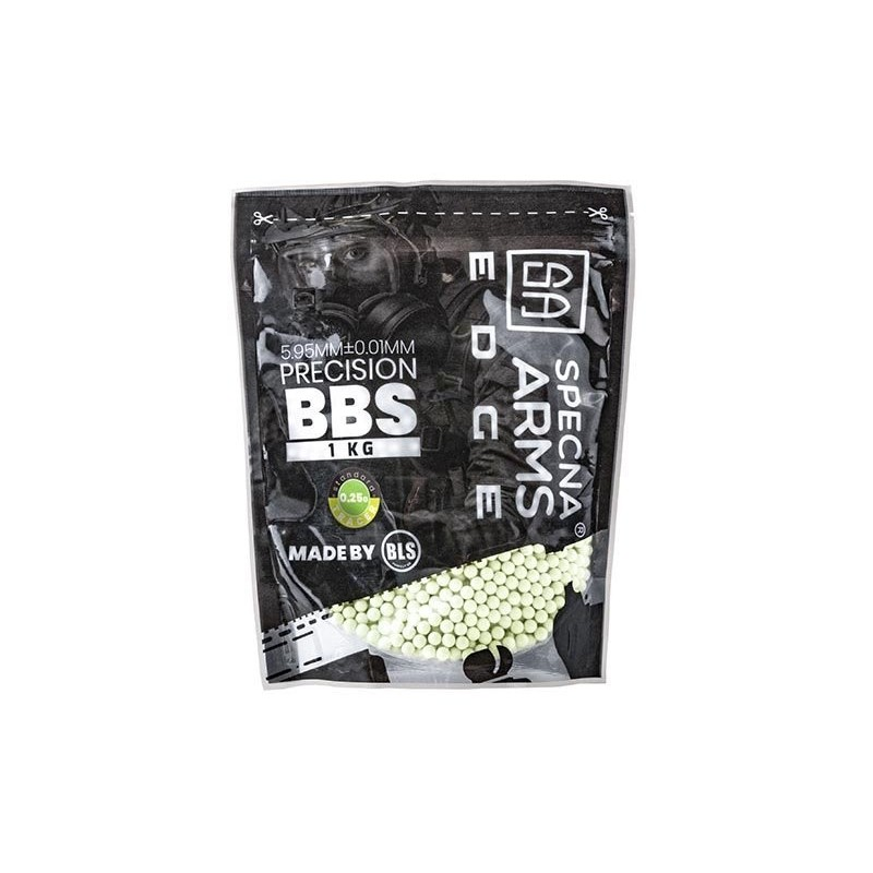 0.25g Specna Arms EDGE Tracer Precision BBs - 1kg - Green