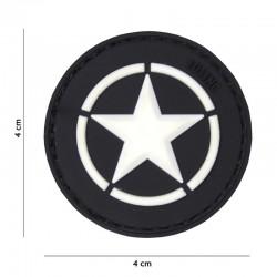 Patch 3D PVC Allied star noir 18044