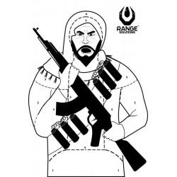 Cibles terroriste- 50 pièces