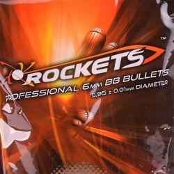 Billes airsoft 6mm Rockets Professional 0,20g BBs - 1kg
