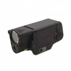 Weapon flashlight with red laser