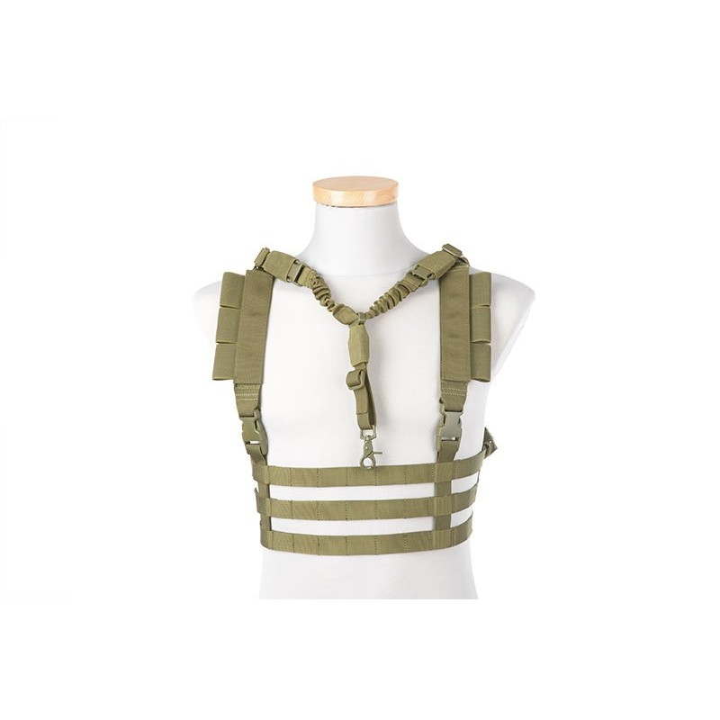 Low Profile Chest Rig Tactical Vest - Olive Drab