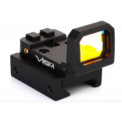 Vism Folidng Sight with the 20mm Rail Mount Noir