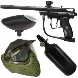Pack paintbal Spyder Victor Black air masque thermal Helix