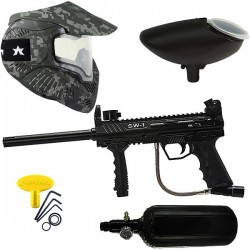 Kit lanceur paintball SW1 air avec masque thermal Black Acu