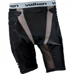Slide Shorts- Valken Black Grey L