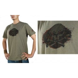 Tee-shirt Angel Skullduggery olive S