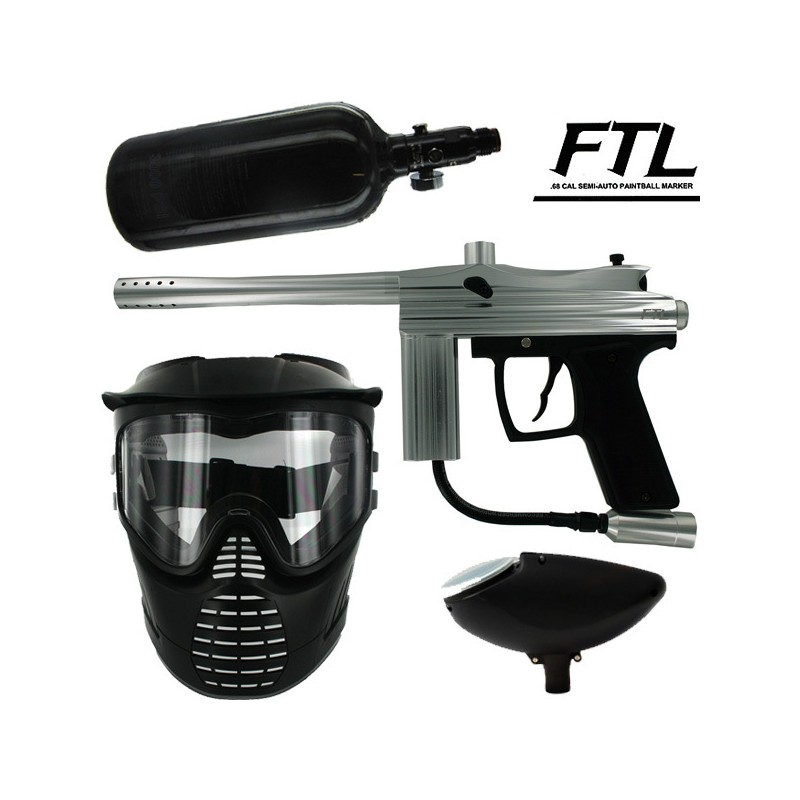 Kit paintball BE FTL air+masque+loader